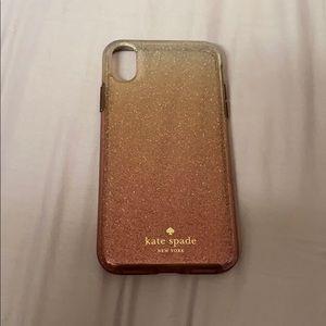 iPhone X/XS Kate Spade Glitter ombré case!